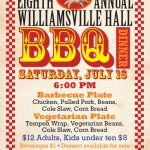 Even art-lovers must eat! BBQ at the Williamsville Hall the same weekend as the Rock River Artists Open Studio Tour.