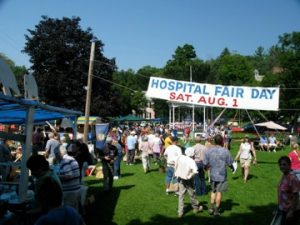 Hospital Fair Day is always the first Saturday in August.: That's August 6th in 2016.